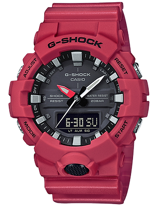 GA-800-4ADR Red Basic Front Button Duo/Chrono