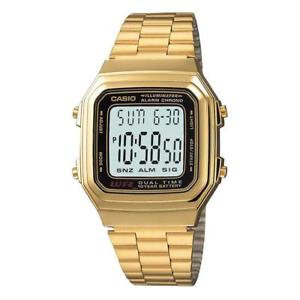A178WGA-1ADF Casio - All Gold Dual Time Illuminator