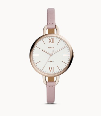 ES4356 FOSSIL Annette Three-Hand Pastel Pink Leather Watch