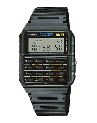 CA53W-1Z Casio - Retro All Black Calculator