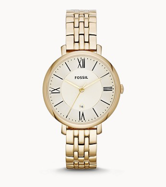 ES3434 FOSSIL Jacqueline Gold-Tone Stainless Steel Watch