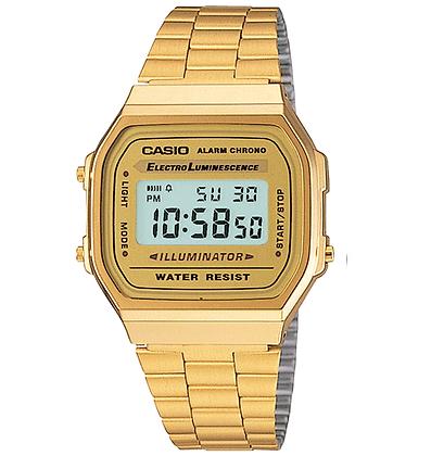 A168WG-9 Casio - Retro All Gold Digital