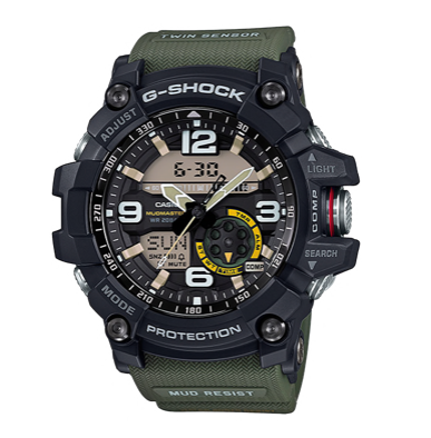 GG-1000-1A3DR Black and Green Twin Sensor Mudmaster