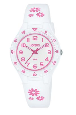 RRX59GX-9 LORUS WHITE PINK FLOWERS