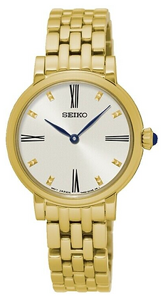 SFQ814P - Seiko Ladies Gold dress watch