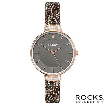 Seksy - Rose Gold/Black Rocks® Stone Set Bracelet
