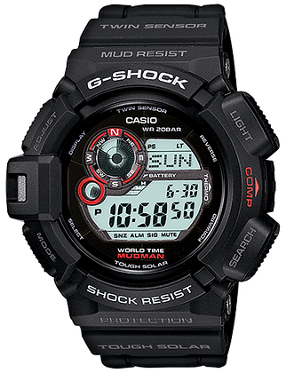 G-9300-1DR G-SHOCK  All Black Mudman with COMPASS