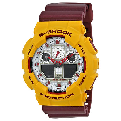 "GA-100CS-9A G-Shock - ""Broncos"" Yellow/Maroon Duo"