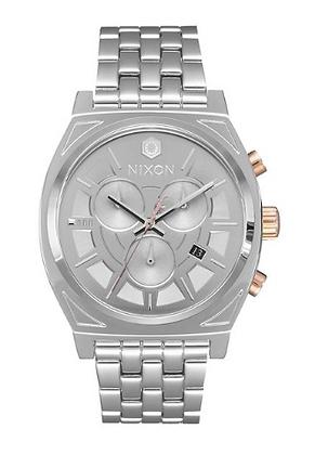 A972SW-2445 Nixon Time Teller Chrono Phasma Silver Mid-size