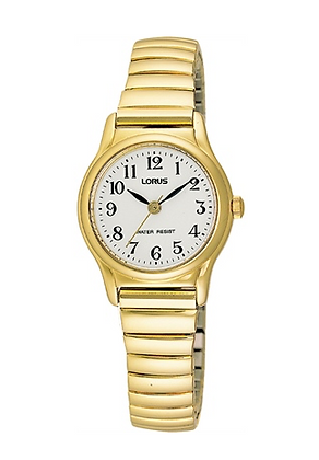 RG250AX-9 LORUS Ladies Gold Plated stretch band