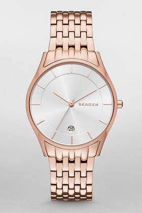 SKW2388 SKAGEN Holst Steel Link Watch Rose Gold