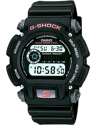 DW-9052-1VDR - G-SHOCK All Black Basic Digital