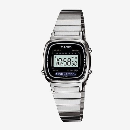 LA670WA-1DF Casio - Retro Petite Stainless Steel Digital