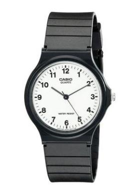 MQ24-7B Casio - Black and White Analog