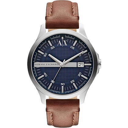 AX2133 A|X - Hampton Silver/Blue Brown Leather