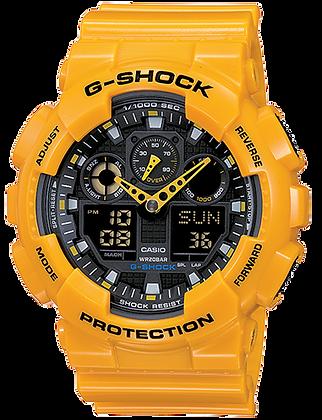 GA-100A-9ADR - G-SHOCK Bumblebee Yellow Duo/Chrono