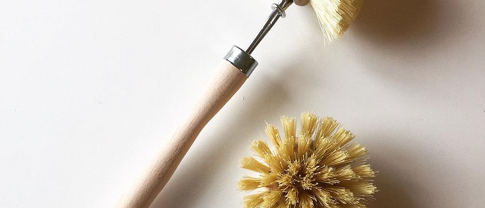 Brosse à vaisselle en fibre rechargeable