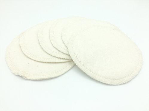 Lot de 6 coussinets d'allaitement lavables Bio