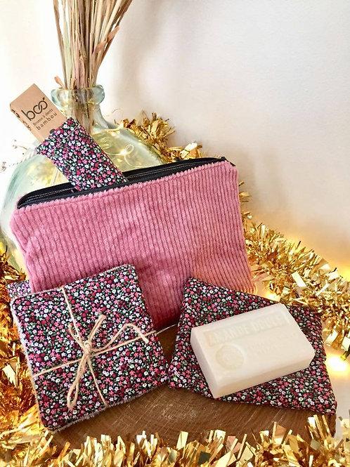 Trousse de Noël - Complète rose
