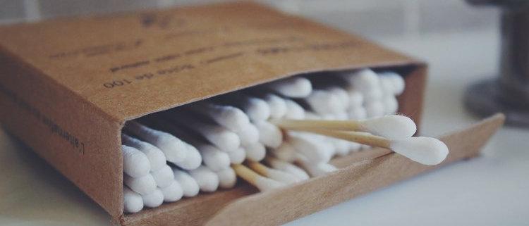 Cotons tiges en Bambou (boite de 100)