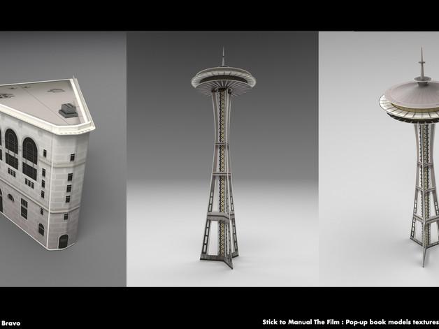 Pop-Up Book Seattle textures