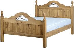 """Corona Scroll 4'6"""" Bed"""
