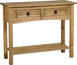 2 Drawer Console Table & Shelf