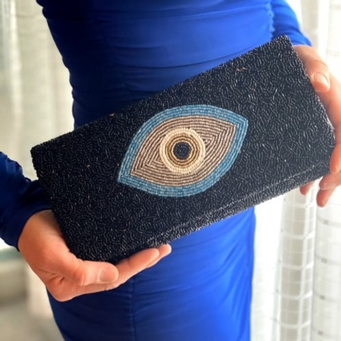Evil Eye Structured Clutch