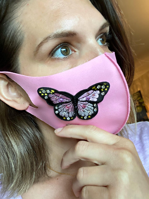Fashion Face Mask- Stretch Butterfly
