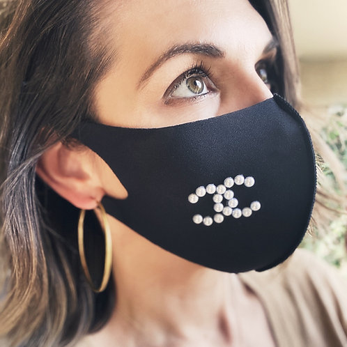 Fashion Face Mask Stretch- Initials