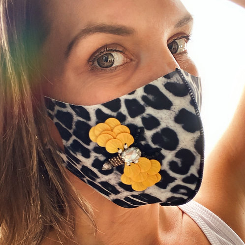 Fashion Face Mask Stretch -Bee