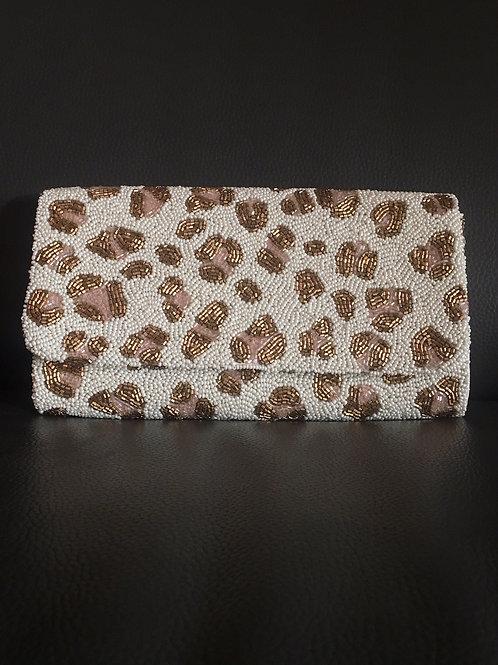 Leopard Print Structured Clutch