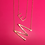 Thumbnail: Gold plated initial necklace (lg)