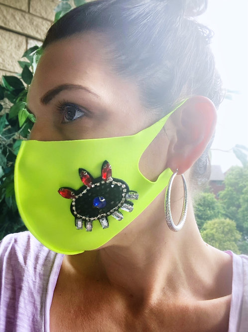 Fashion Face Mask- Stretch- Evil Eye