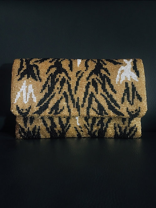 Animal Print Fold Over Clutch (lg)