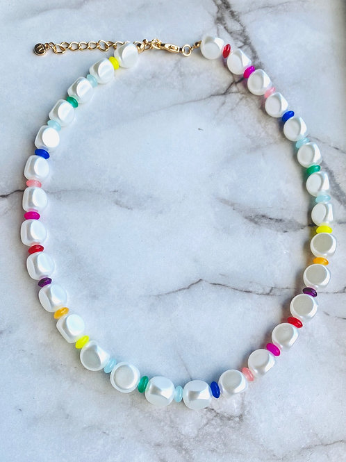 Fashion Pearl Colorful Necklace