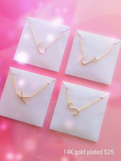 Gold Plated Initial Necklace (sm)