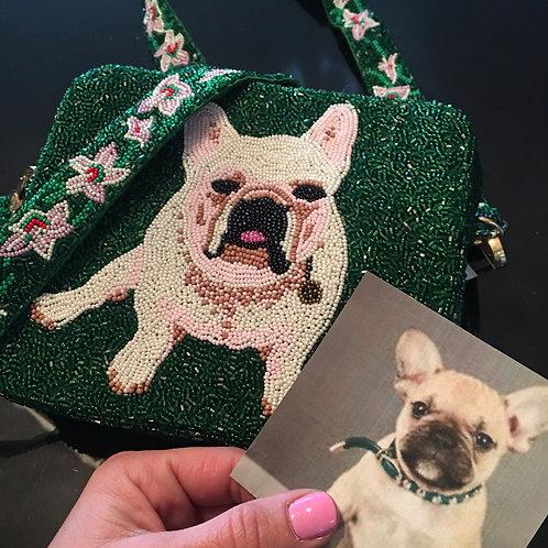 Custom Pup Beaded Crossbody