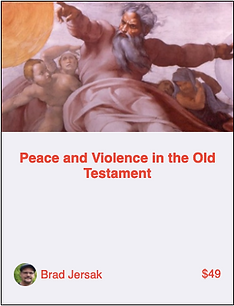 Peace and Violence in the Old Testament.