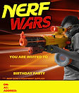 Nerf Birthday party invite