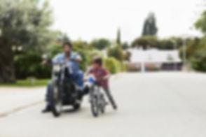 Dad and Son Biking