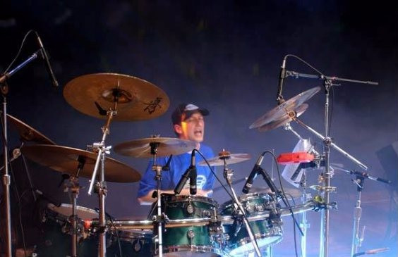 Drummer Dmitry Orudzhov. Concert in Sacramento USA California