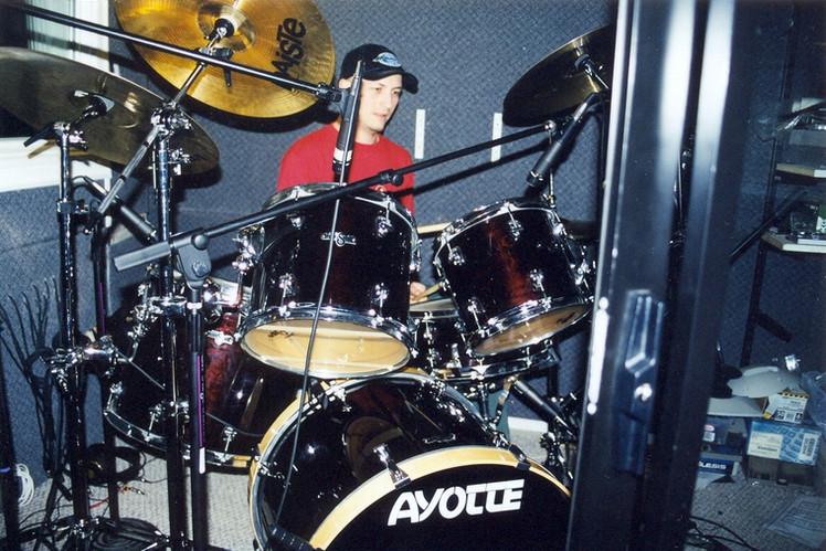 Drummer Dmitry Orudzhov. Recording at studio Portland USA