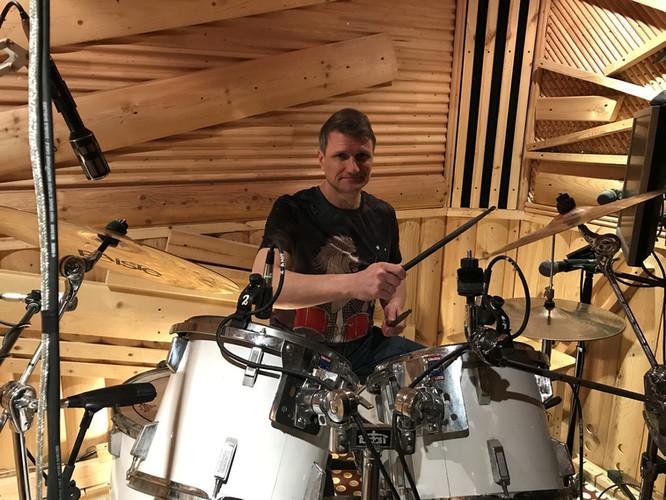 Drummer from St. Petersburg Sergey. Dmitry Orudzhov's student