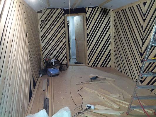 Барабанная комната,строительство студии