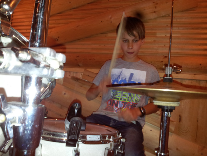 Drum lessons with student Nikita
