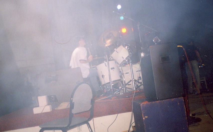 Тольяттинский Концерт фестиваль Русское поле. Барабанщик за ударной установкой Дмитрий Оруджов