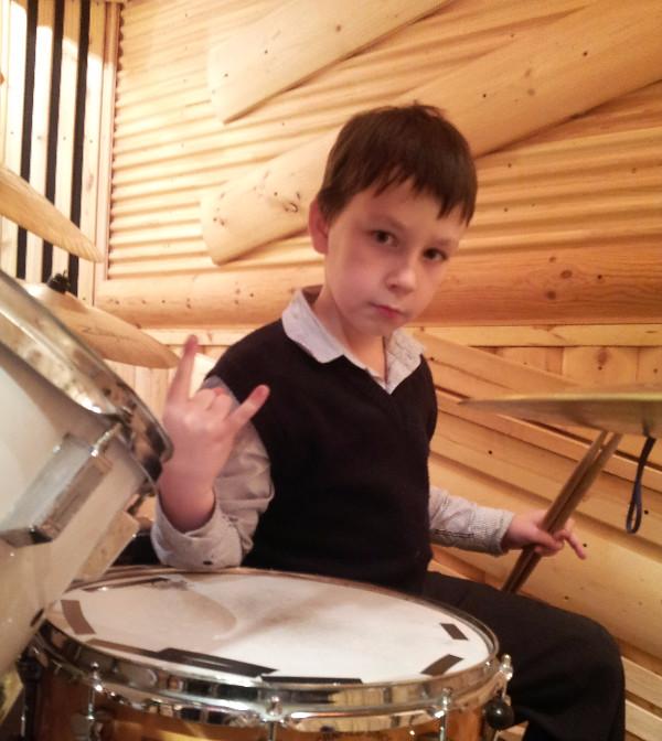 Барабан DW. Никита ученик барабанщика Дмитрия Оруджова
