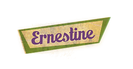 Ernestines name tag- of Ernestine & Amanda books by Sandra Belton