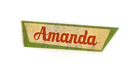Amanda name tag- of Ernestine & Amanda books by Sandra Belton